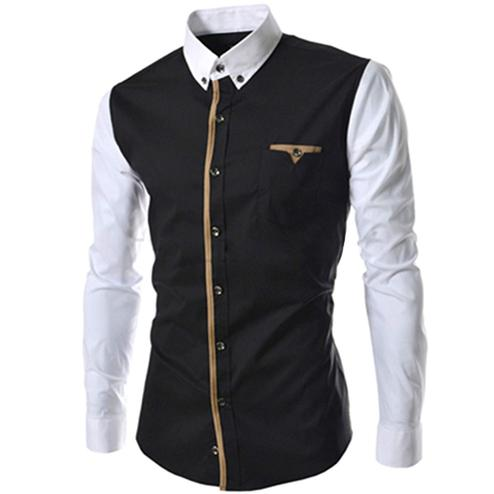 Ideal Black Colored Casual Wear Pure Cotton Shirt