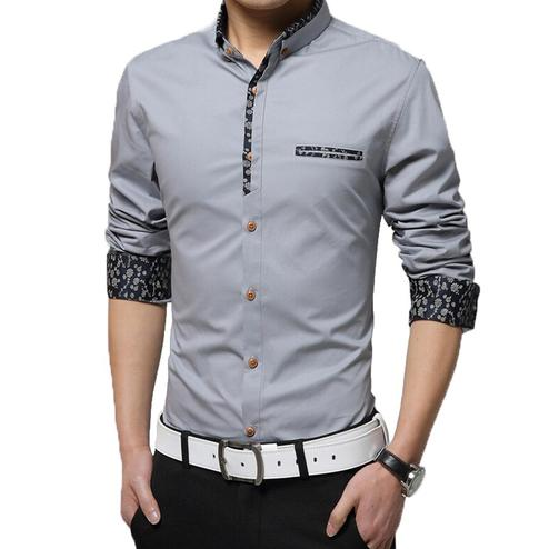 Majesty Grey Colored Casual Wear Pure Cotton Shirt