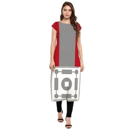 Ahalyaa - Women's Multi Colored Casual Wear Digital Printed Crepe Kurti