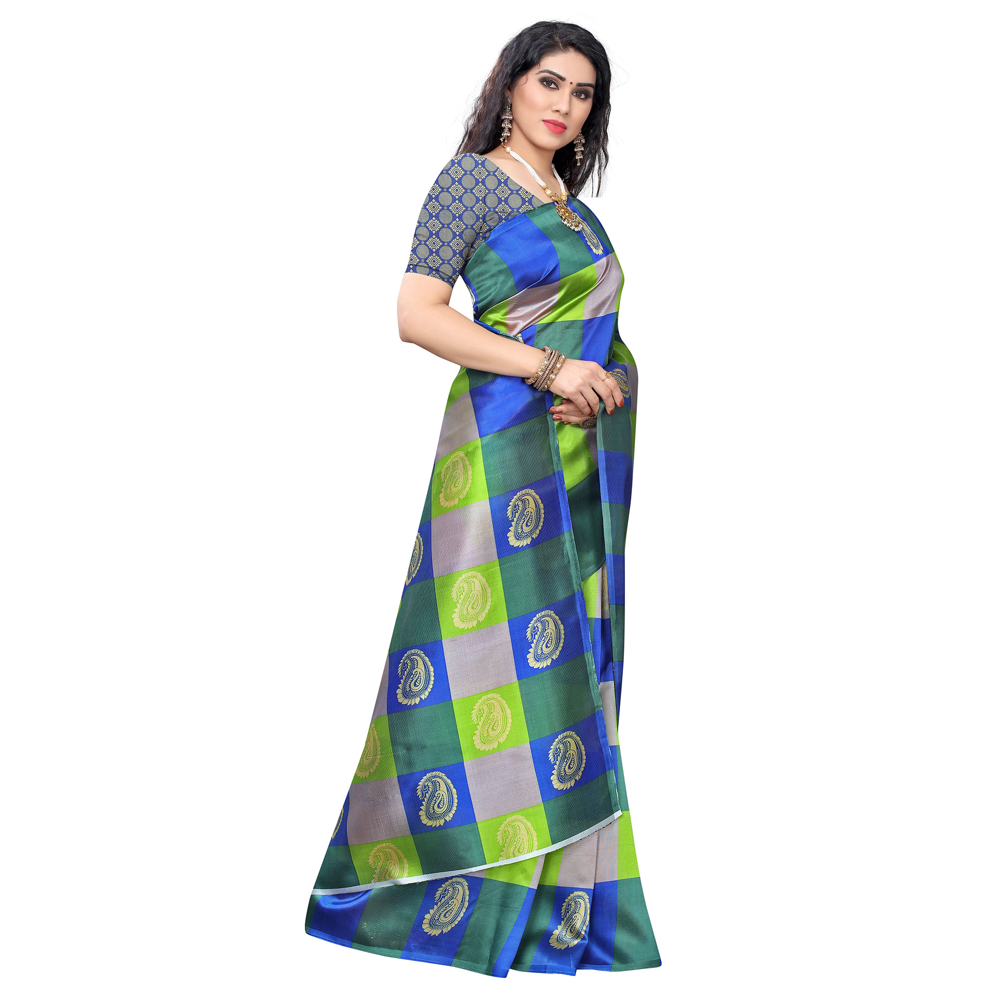 Engrossing Green Colored Casual Wear Printed Art Silk Saree