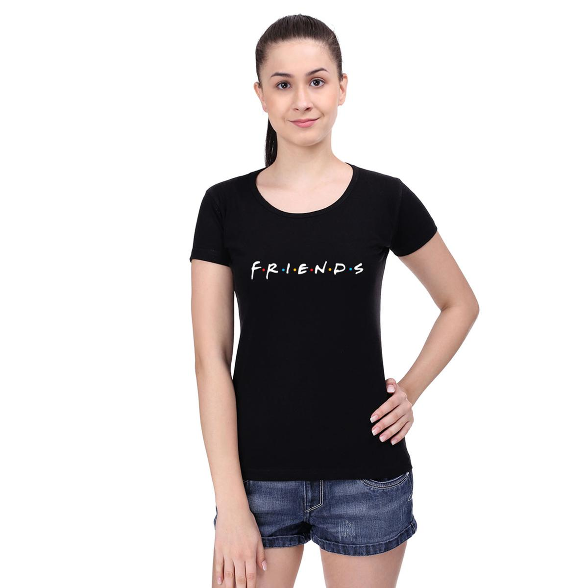 Glorious Black Colored Casual Wear Cotton T-Shirt