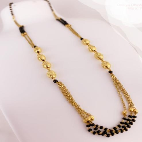 Entrancing Gold Plated American Diamond Alloy Mangalsutra