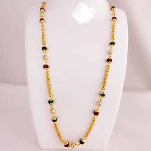Excellent Gold Plated Pearl Copper Necklace