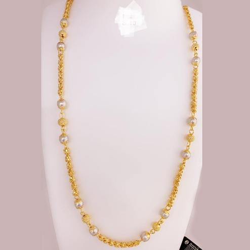 Marvellous Gold Plated Pearl Copper Necklace