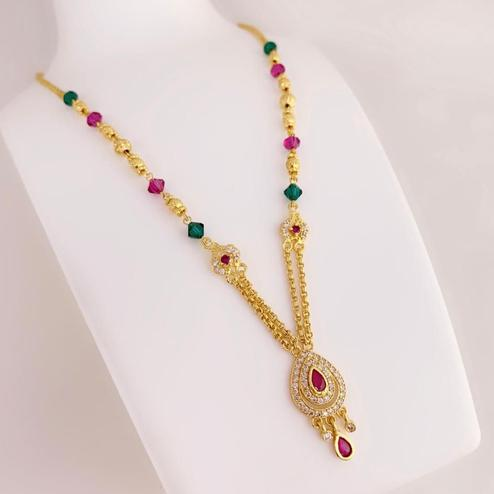 Flamboyant Gold Plated Copper Necklace