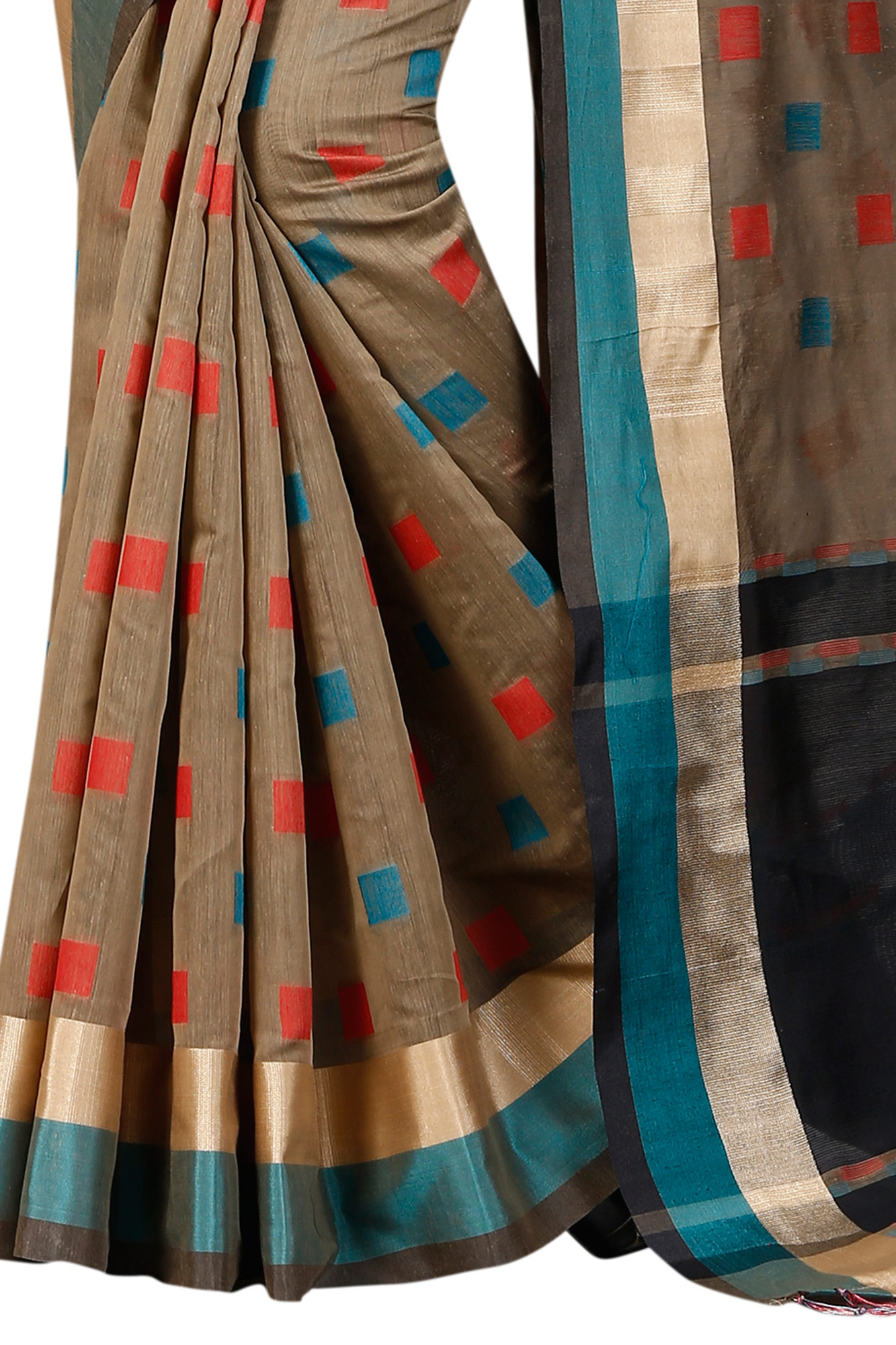 Dazzling Gray Festive Wear Chanderi Silk Saree