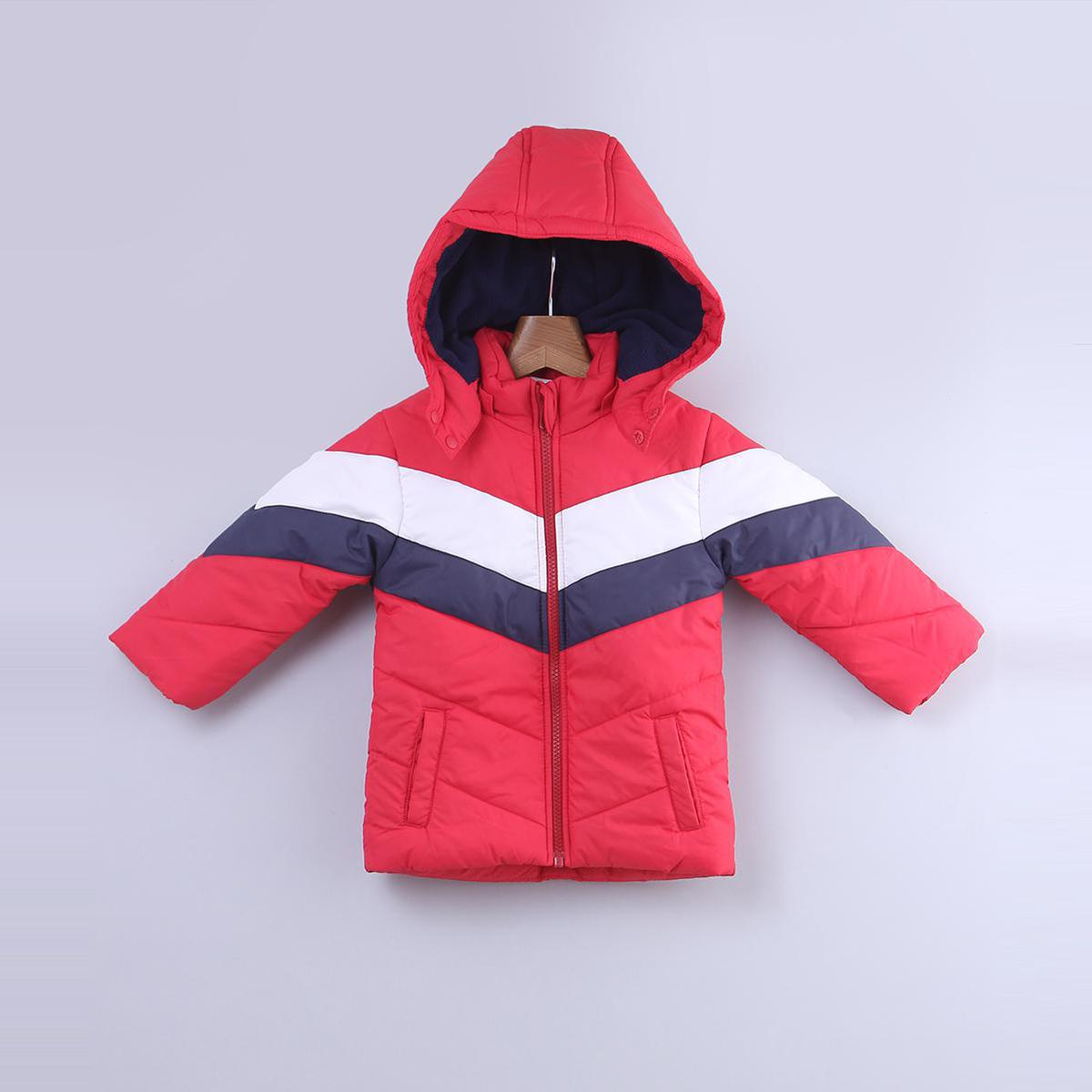 Beebay - Red Colored Block Polyester Jacket For Kids Boys