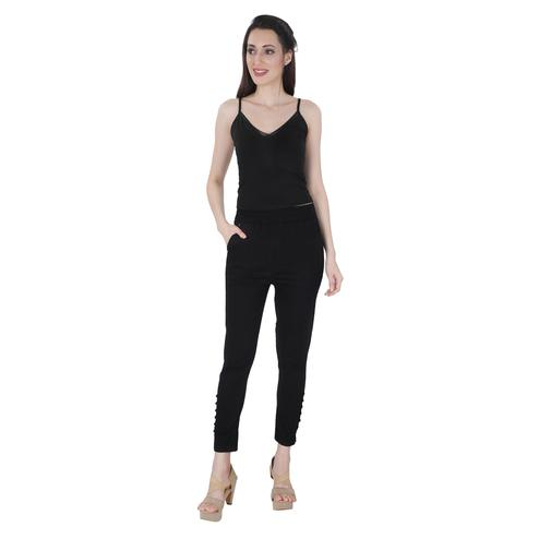 NFI essentials - Black Colored Casual Lycra Leggings