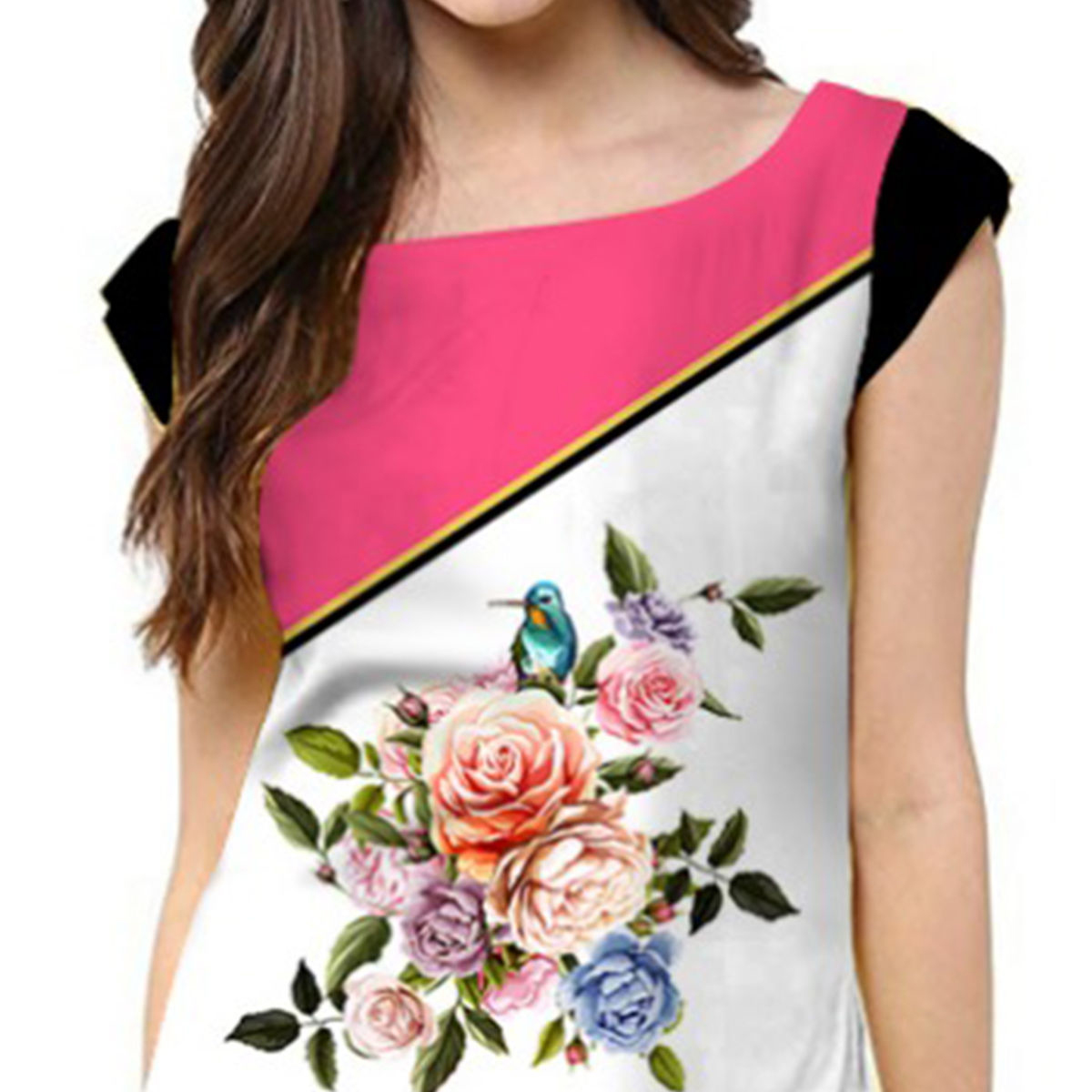 Charming White Colored Casual Printed Rayon Kurti