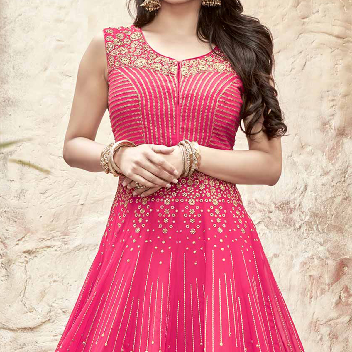 Divine Pink Embroidered Anarkali