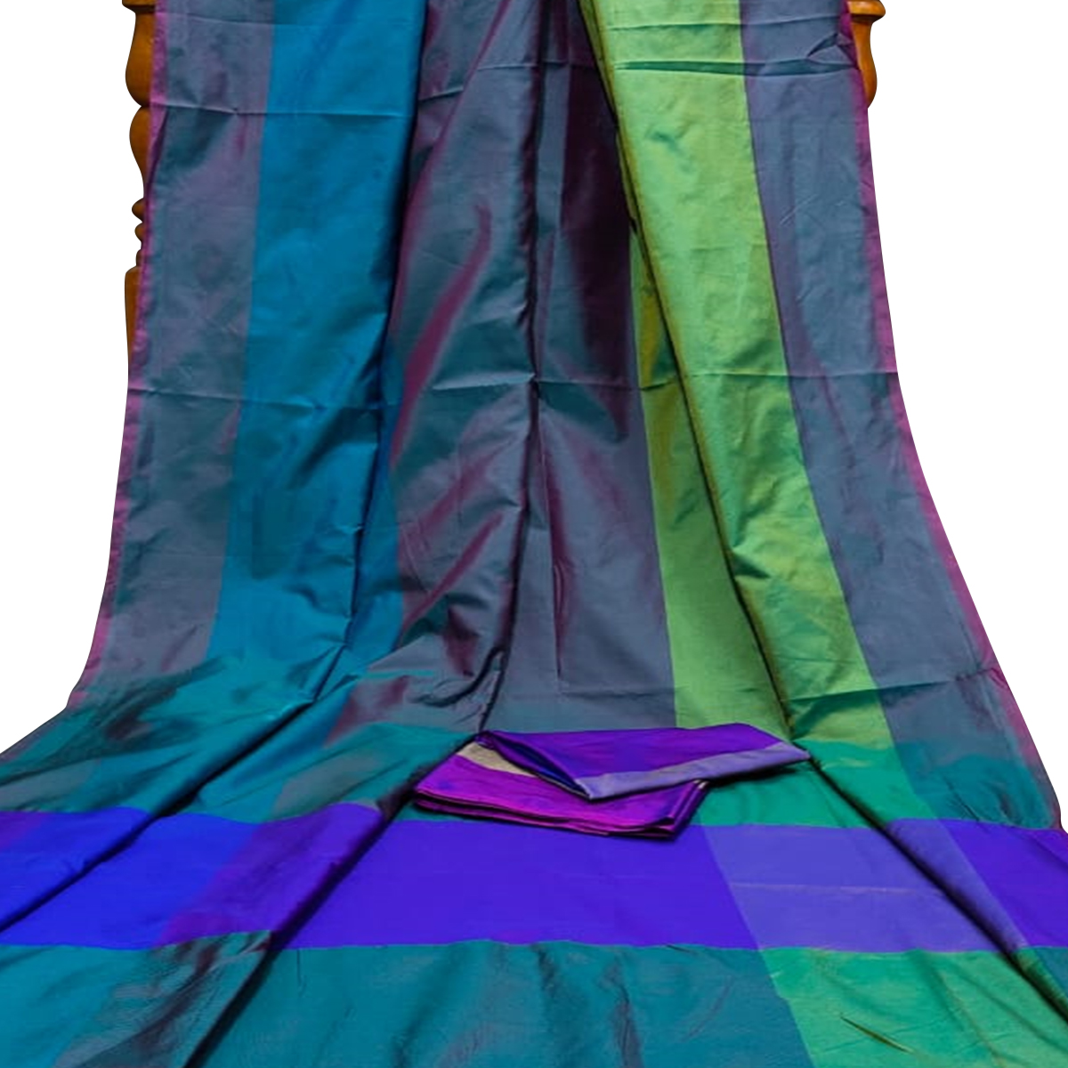 Preferable Turquoise Colored Festive Wear Woven Silk Saree With Tassels
