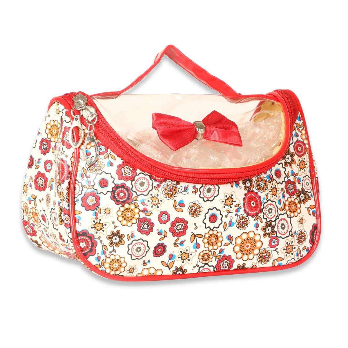 NFI Essentials - Printed Cosmetics Pouch (Red)