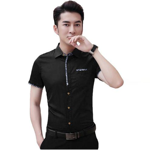 Radiant Black Colored Casual Wear Pure Cotton Shirt
