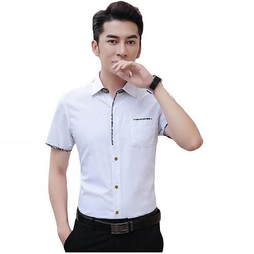 Gleaming White Colored Casual Wear Pure Cotton Shirt