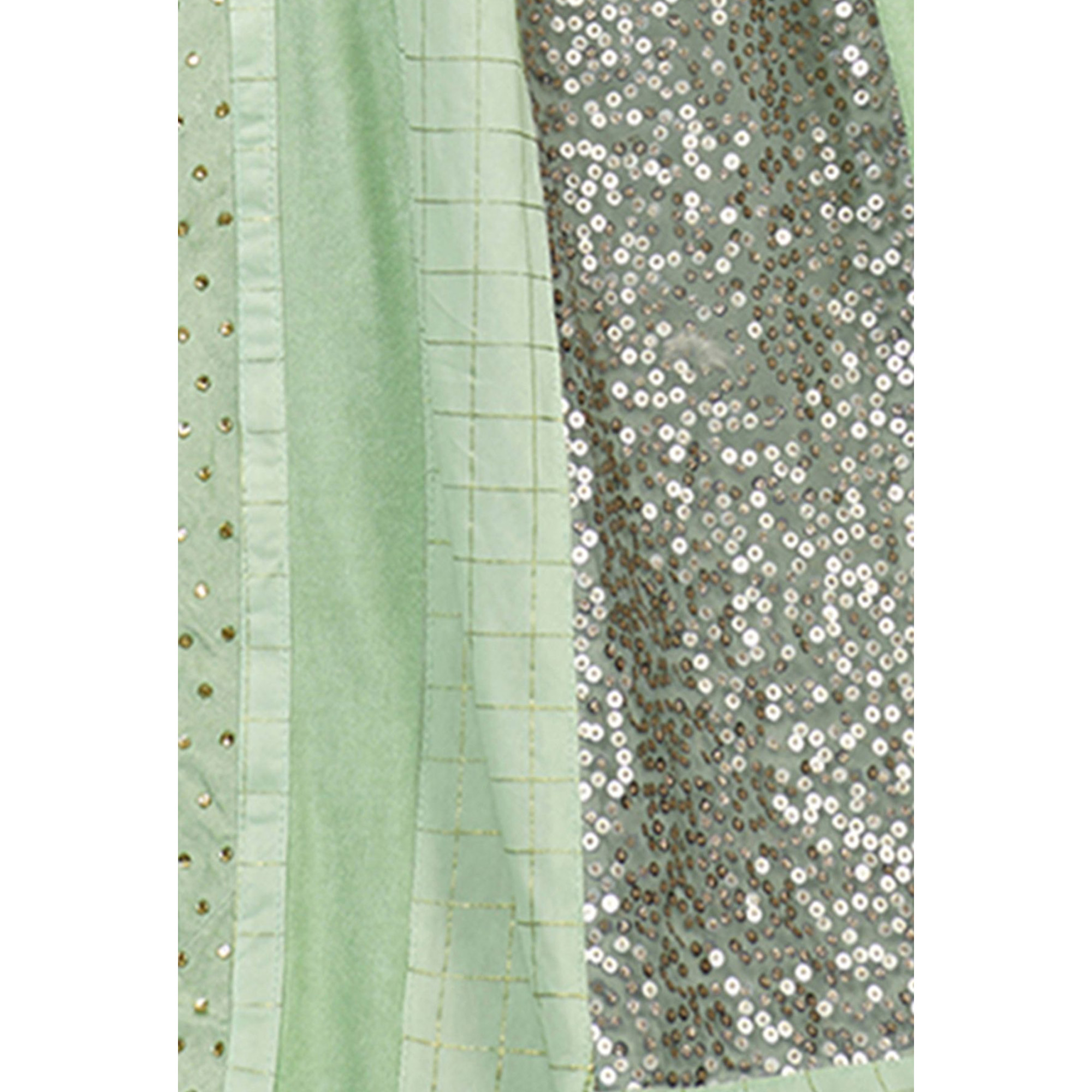 Gorgeous Light Green Colored Party Wear Lycra Saree