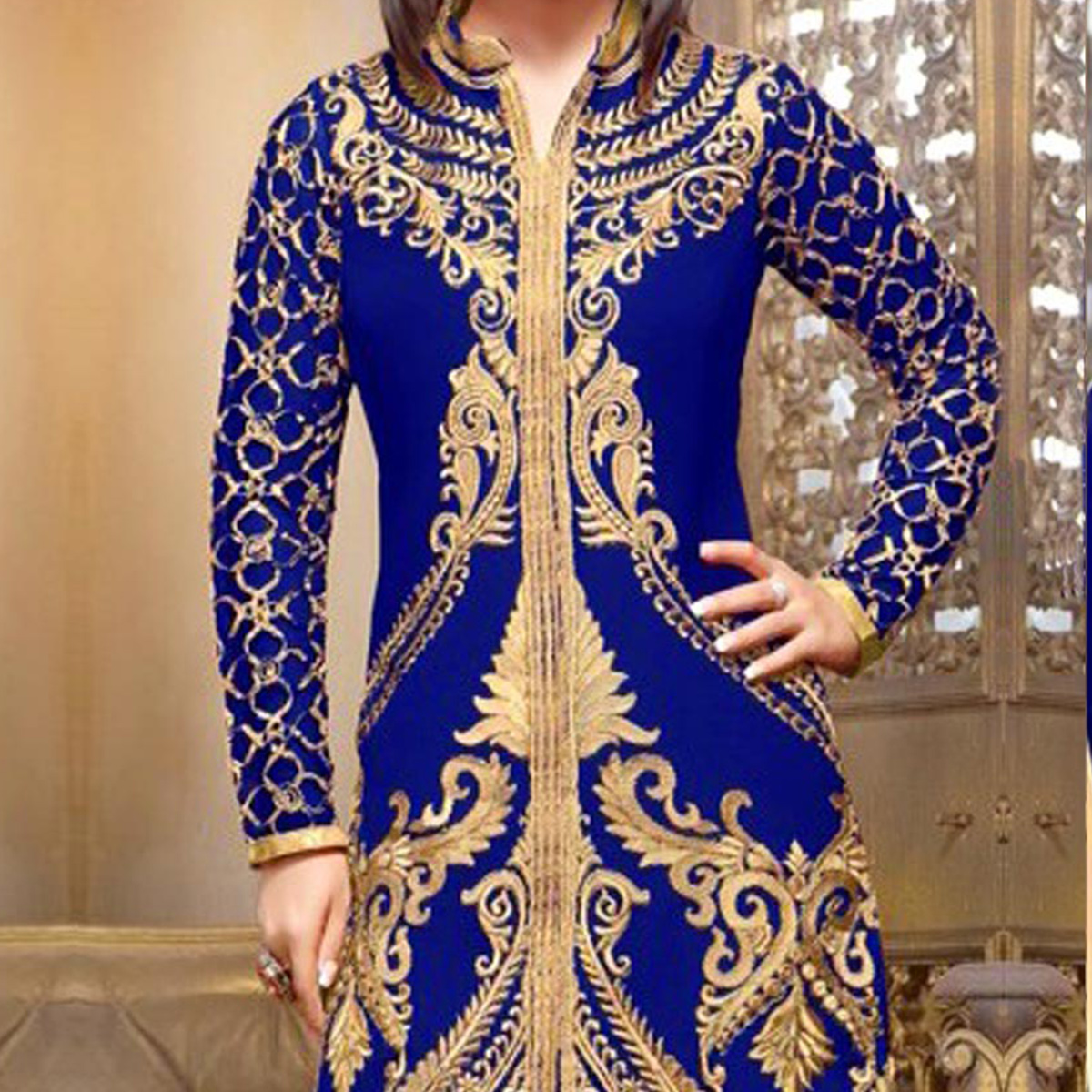 Blue Georgette Salwar Suit