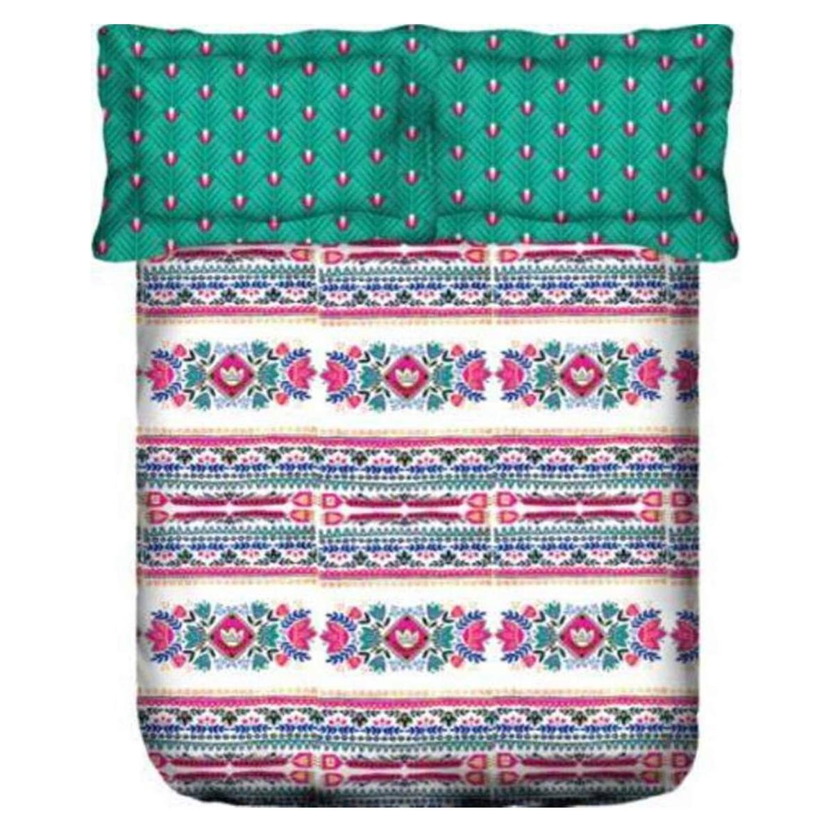 Portico New York Stellar Estella Printed Cotton Double Bedsheet With Pillow Cover - Multicolor