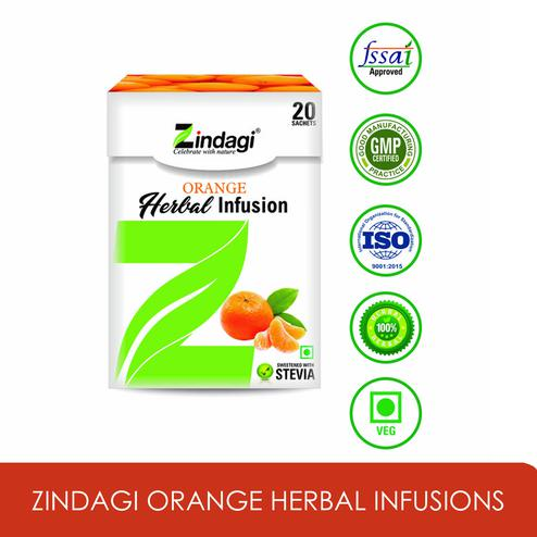Zindagi Orange Herbal Infusions - Weight Loose Suppliment - Natural diabetic care products