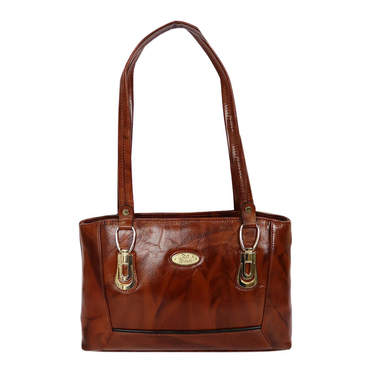 Lelys - Stylish Diva Hand Bag With Pure Leather For Ladies - Brown
