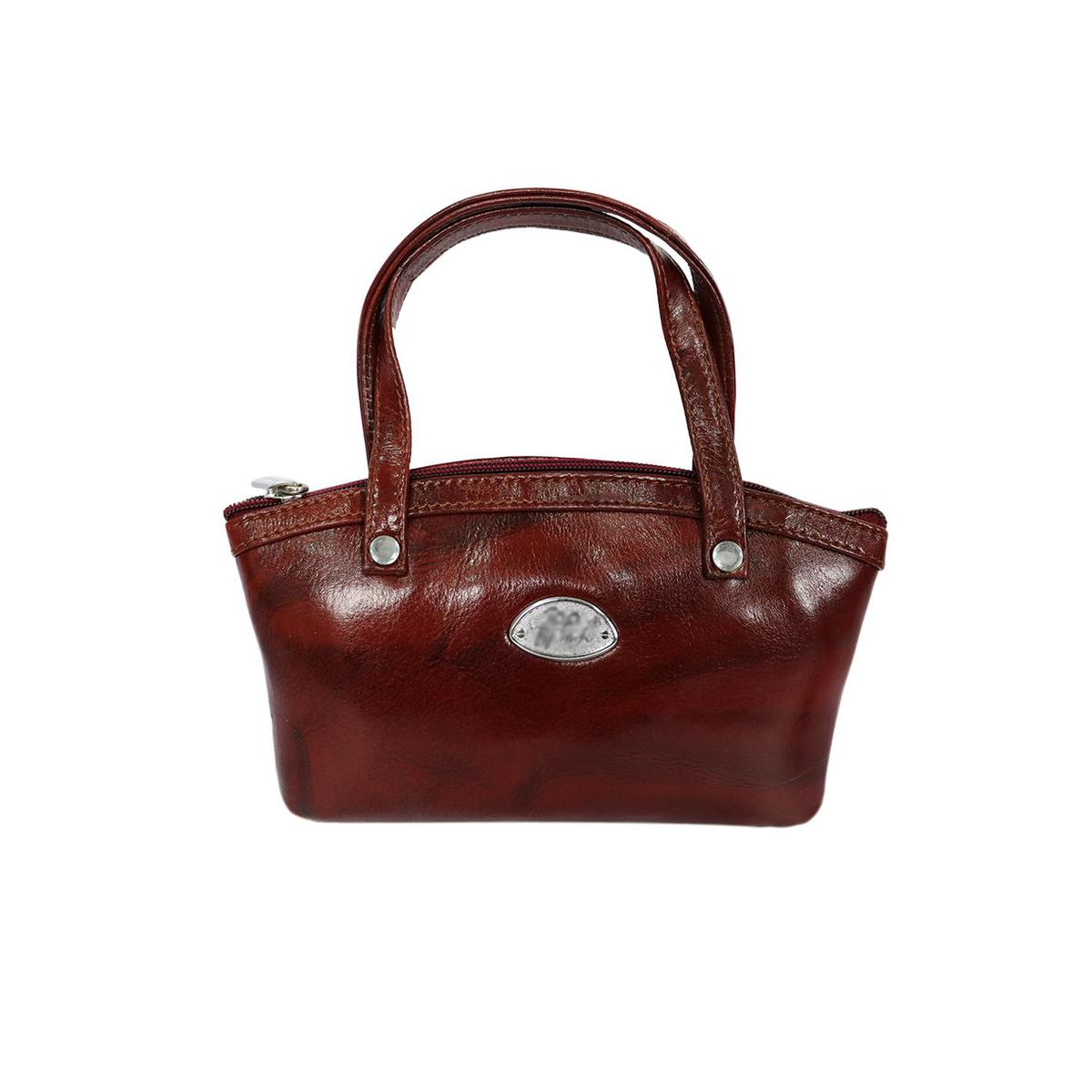 Lelys - Unique Pattern Pure Leather Hand Bag For Women/Girls - Brown