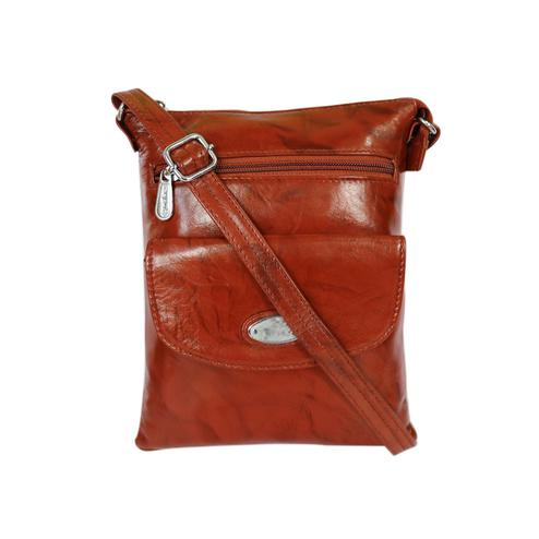 Lelys - Brown Pure Leather Sling Bag For Women/Girls