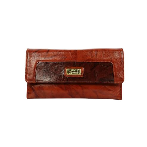 Lelys - Solid Pattern Rich Pure Leather Wallet - Brown