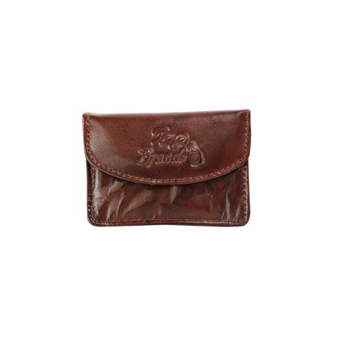 Lelys - Square Wallet - Small Pure Leather Wallet For Women/Girls - Dark Brown