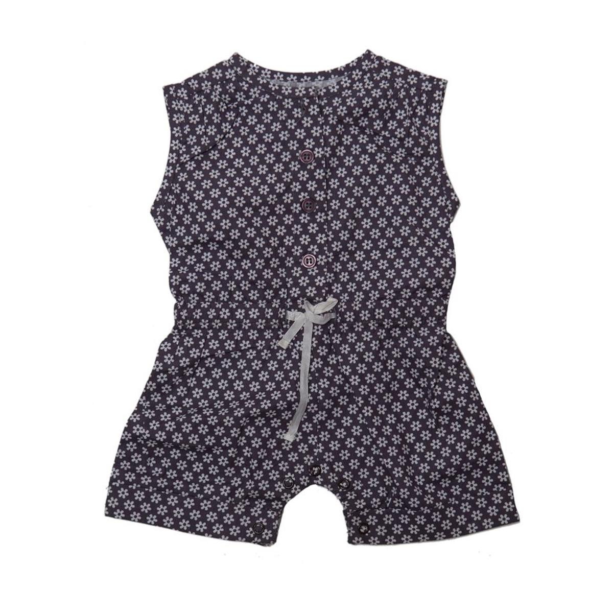 Nino Bambino - Grey Colored Casual Cotton Jumpsuit For Girls