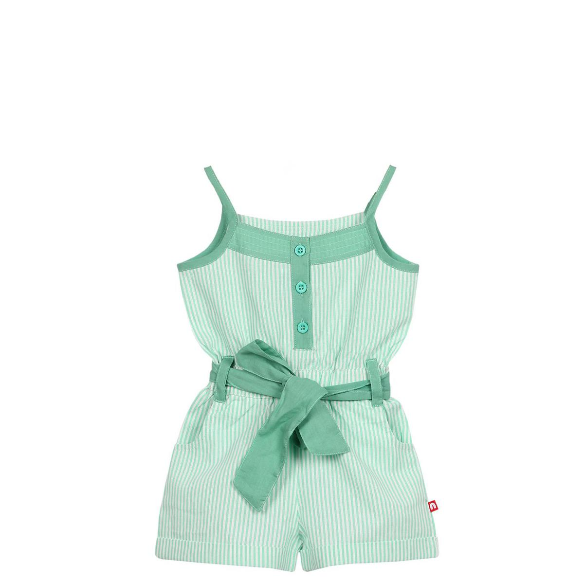 Nino Bambino - Green Colored Casual Cotton Jumpsuit For Girls