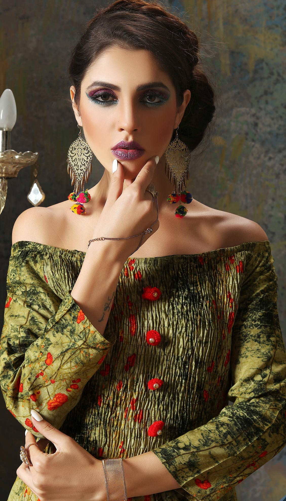 Ravishing Green Designer Embroidered Art Silk Kurti