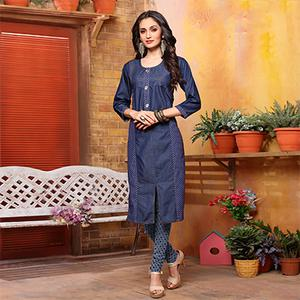 Lovely Blue Denim Designer Kurti