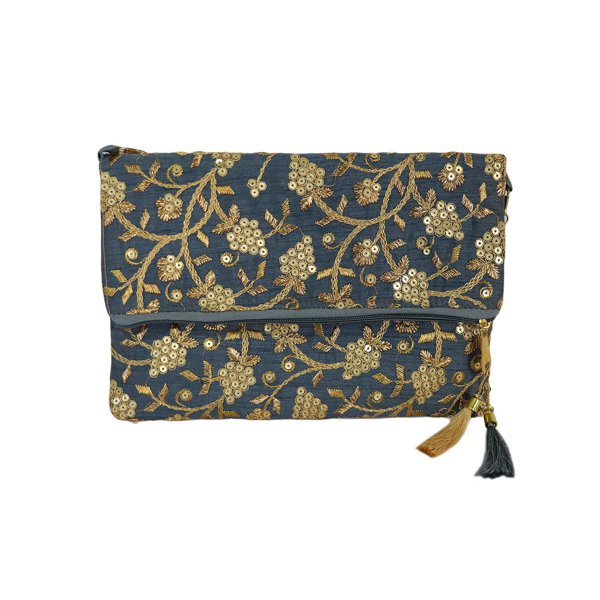 Lelys - Traditional Handcrafted Embroidery Clutch For Women/Girls