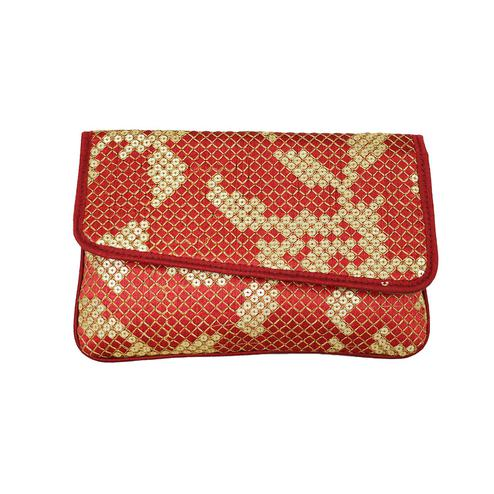 Lelys - Stylish Morden Ethnic Party Clutch With Chain