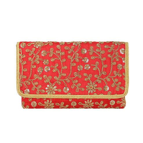 Lelys - Stylish Elegant Party Clutch With Embroidary Design