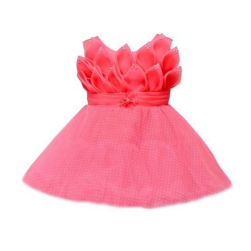 Titrit - Pink Colored Netted Minaret Frock