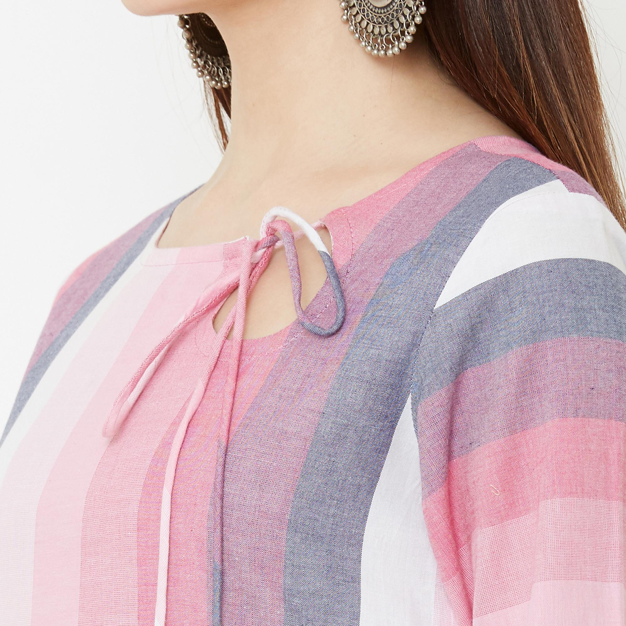Exceptional Pink Colored Casual Wear Printed Cotton Kurti