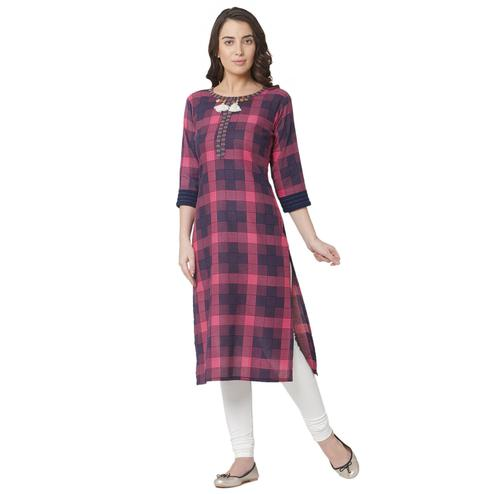 Stunning Multi Colored Casual Wear Printed Cotton Kurti