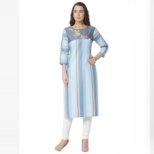 Classy Multi Colored Casual Wear Printed Cotton Kurti