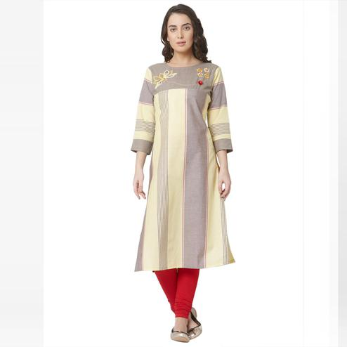 Innovative Multi Colored Casual Wear Printed Cotton Kurti