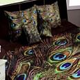 Adirav - Wine Colored Printed Double Velvet Bedsheet With 2 Pillow Cover