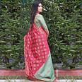 Opulent Turquoise Green Colored Festive Wear Woven Silk Saree