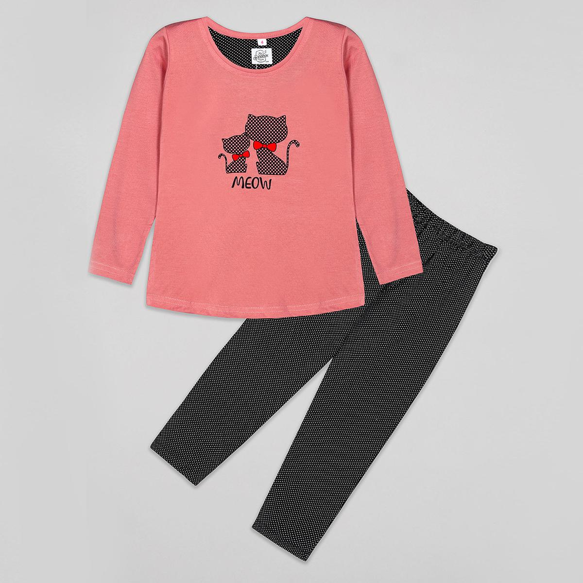 Sandbox - Pink Colored Casual Cotton Night Suits