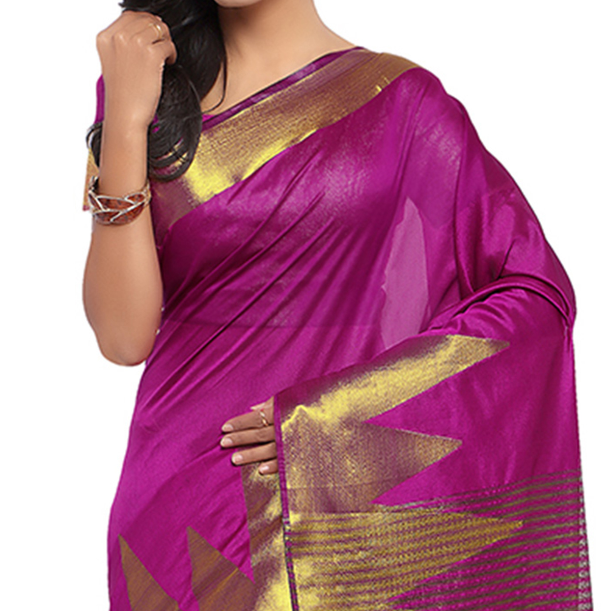 Pink Festive Wear Banarasi Cotton Silk Saree