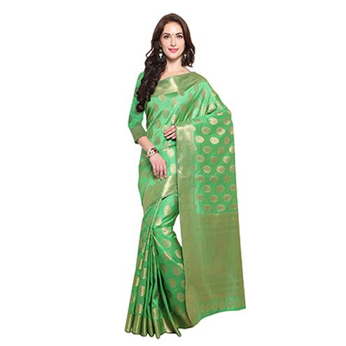 Green Festive Wear Banarasi Art Silk Saree