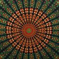 Gorgeous Green Colored Mandala Pure Cotton Double Bedsheet Tapestry With 2 Pillow Covers