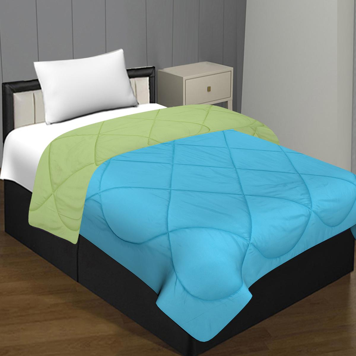 Buy Pretty Aqua Green Colored Solid Poly Cotton Single Bed Comforter For Women S Wear Online India Best Prices Affordable Prices Best Price Online Reviews Peachmode