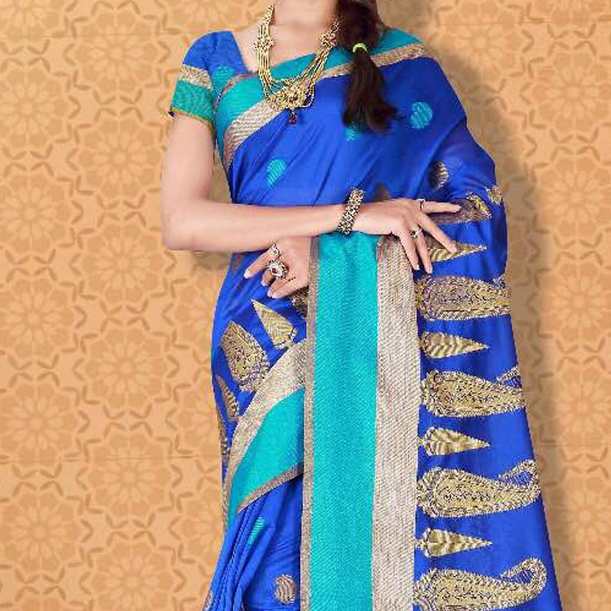 Blue Weaving Work Banarasi Silk Saree
