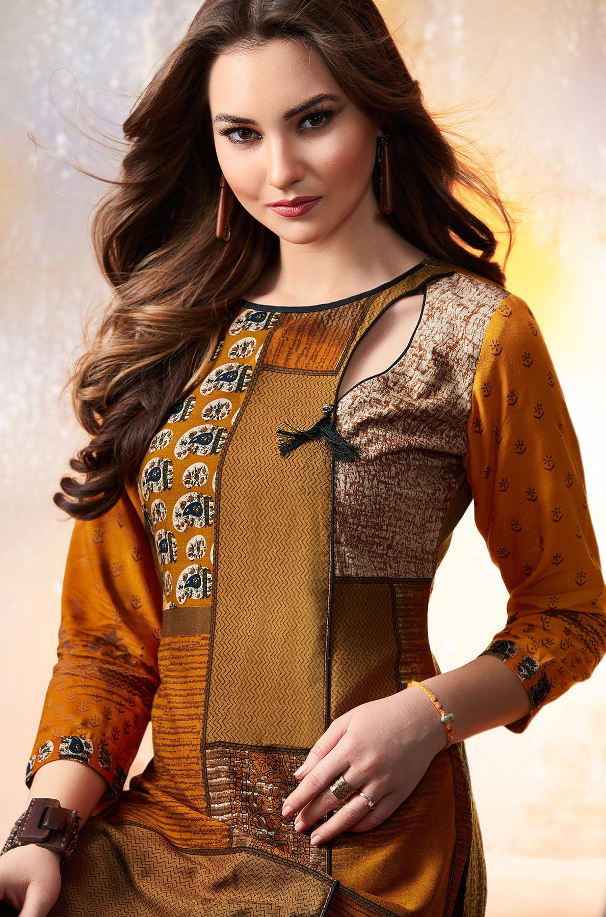 Ravishing Yellow Designer Embroidered & Printed Rayon Palazzo Suit