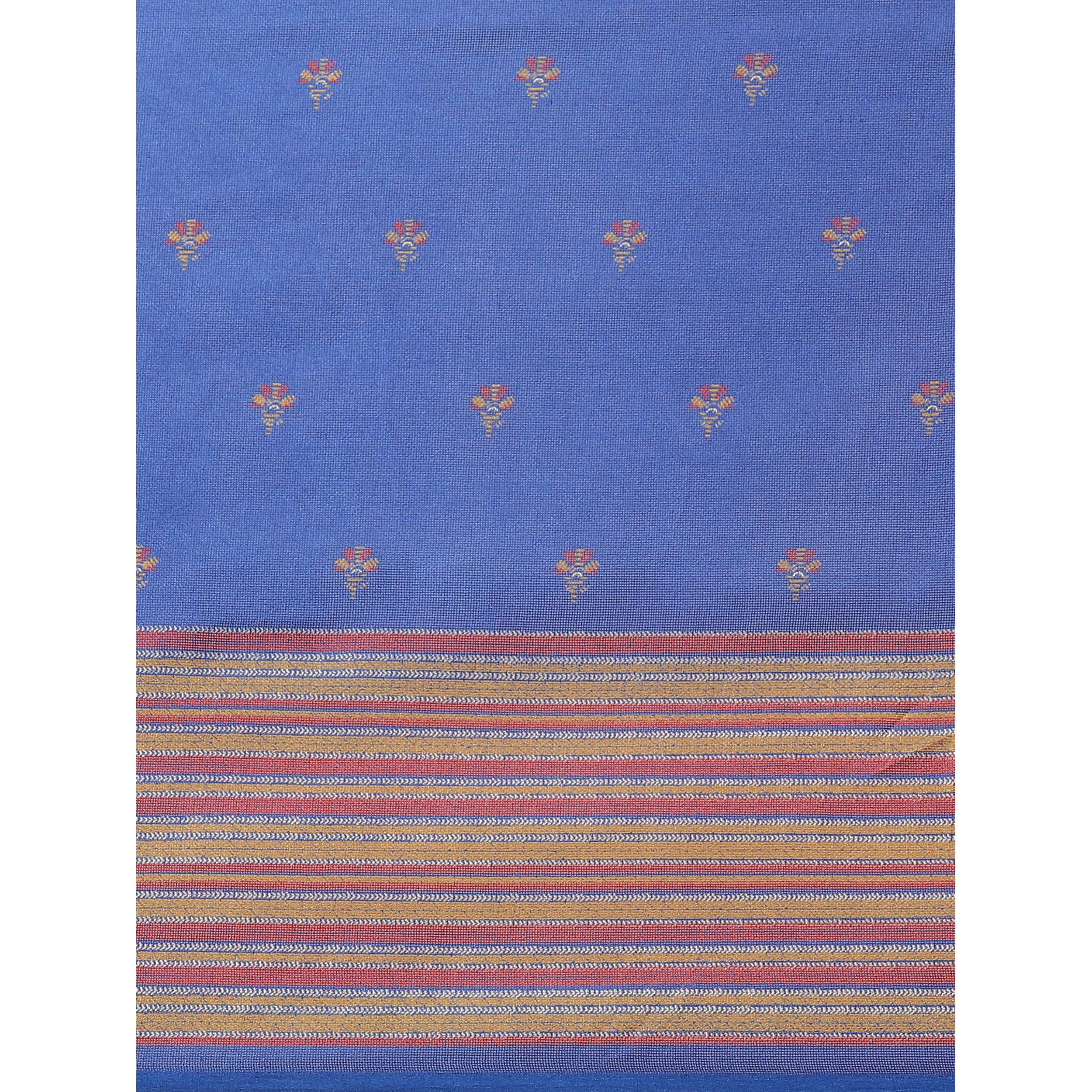 Lovely Blue Colored Casual Wear Printed Jute Silk Saree