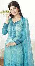 Blooming Blue Digital Printed Pure Lawn Cotton Dress Material